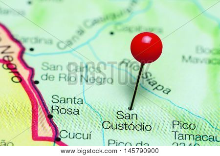 San Custodio pinned on a map of Venezuela
