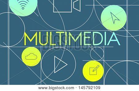 Multimedia Social Media Internet Concept