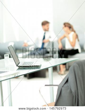 Working process in a modern office