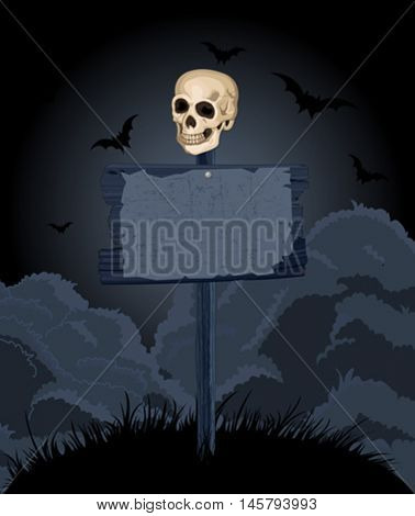 Illustration of Halloween scary background
