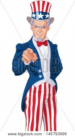 Great illustration of Uncle Sam pointing
