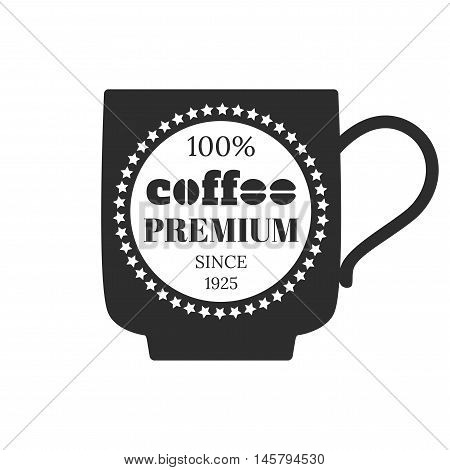 Coffee emblem, badge, logo, label isolated on white background. Vector illustration
