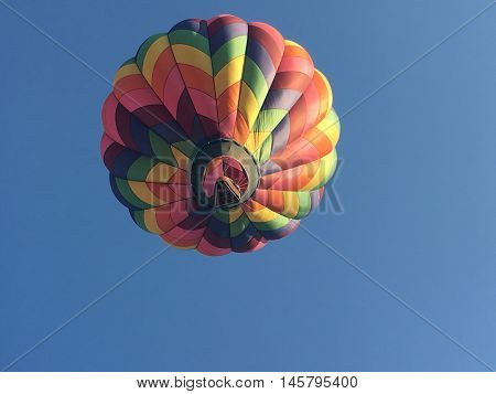 Up Up and away in a hot air balloon at a Balloon Festival