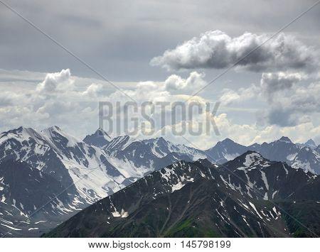 Alpine landscape in Altai Mountains, Siberia, Russian Federation