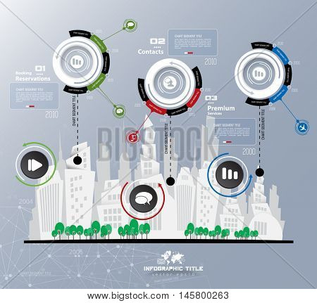 Abstract city infographics elements