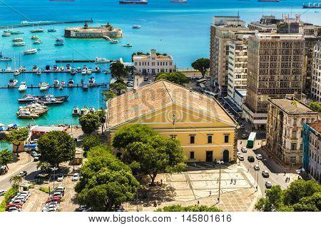 Aerial view of Salvador, Bahia, Brazil