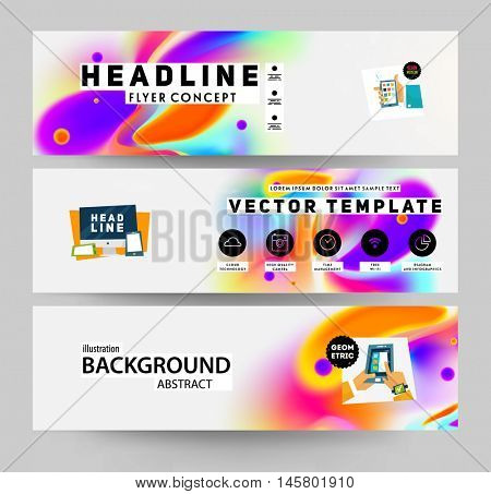 Abstract template with watercolor elements for business designs and backgrounds.