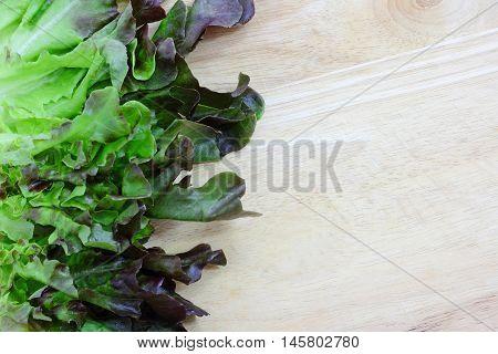 Green Vegetarian Food On Wood