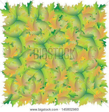 A carpet of maple leaves. Texture of autumn foliage. Vector image.