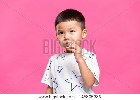 Young kid eating snack