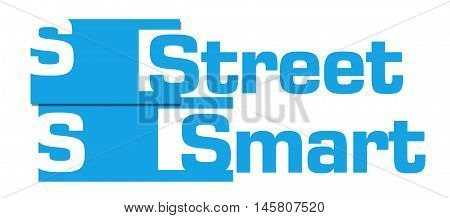 Street smart text written over blue background.