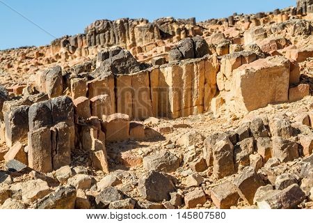 The Ramon Crater, geological formation in Makhtesh Ramon, nature reserve in Negev desert, Israel