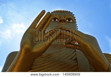 Statue of Golden Buddah in Dambulla, Sri Lanka.