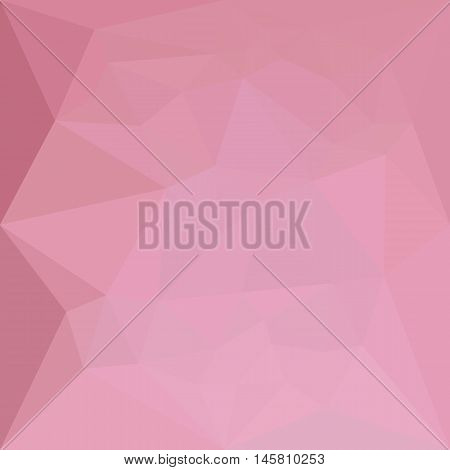 Low polygon style illustration of a rosy brown abstract geometric background.