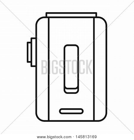 Box mod e-cigarette icon in outline style isolated on white background vector illustration