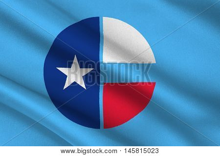 Flag of Collin County in Texas United States. 3D illustration
