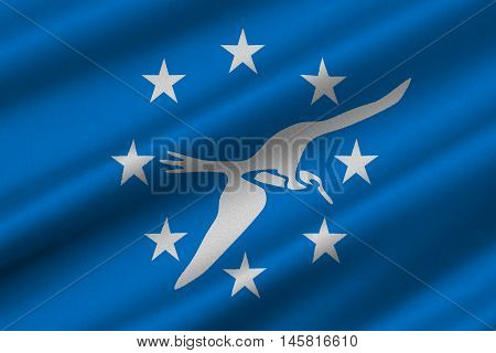 Flag of Corpus Christi is a coastal city in the South Texas United States. 3D illustration