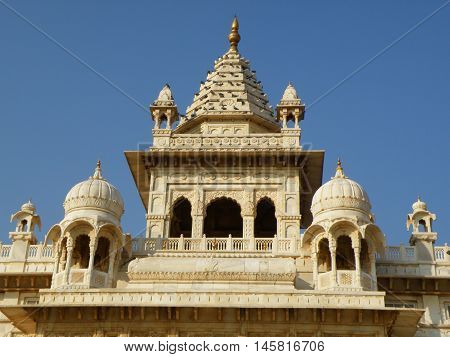 Beautiful White Jainism Temple in Rajasthan, India