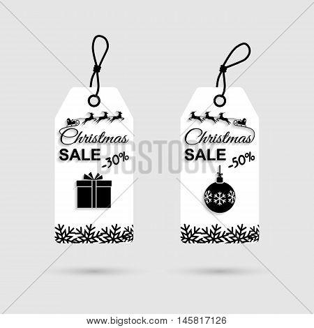 Christmas Discounts Vector