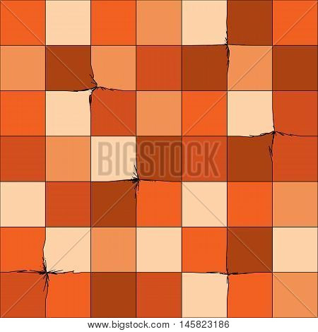Smooth colorful cage with small cracks , seamless vector background