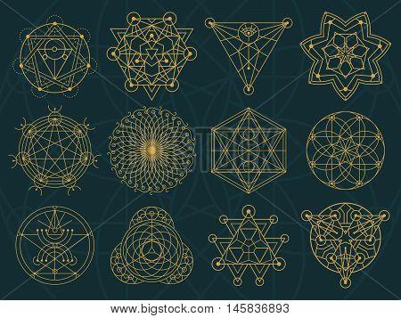 Abstract Sacred Geometry And Magic Symbols Set 3