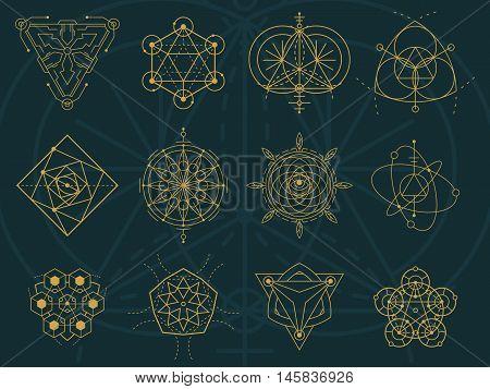 Abstract Sacred Geometry And Magic Symbols Set 5