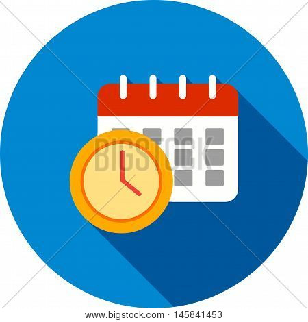 Calendar, schedule, time icon vector image. Can also be used for employment. Suitable for mobile apps, web apps and print media.