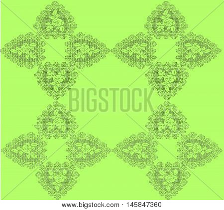 Stock Vector Illustration of  Green Crochet background
