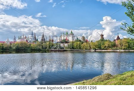 Complex Kremlin and Vernissage in Izmailovo in Moscow