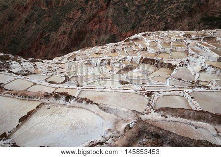 The salt-mines near the city of Cusco in Peru
