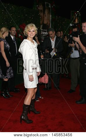 Anna Faris at the Los Angeles premiere of 'Just Friends' held at the Mann Village Theatre in Westwood, USA on November 14, 2005.