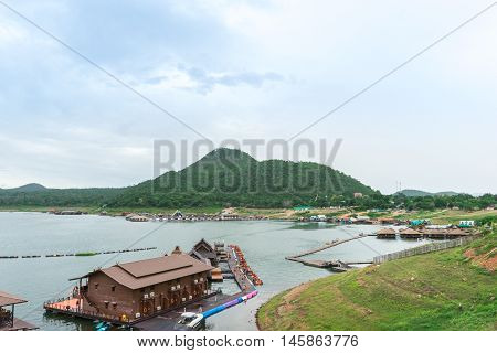 Beautiful Nature Unseen Thailand at Dam Sinakarin ,Kanjanaburi ,Thailand