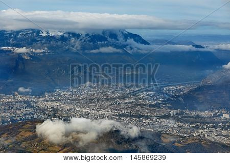 View of Grenoble from Chamrousse