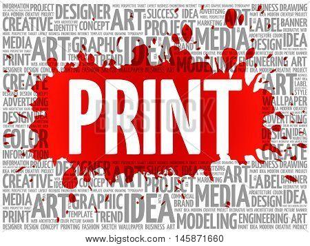 Print Word Cloud, Creative Concept