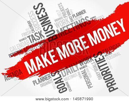 Make More Money word cloud business concept
