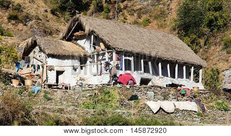 beautiful house in western Nepal, Nepalese architecture