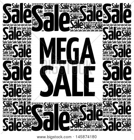 Mega Sale Words Cloud