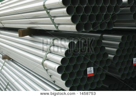 Stacked Metal Pipes