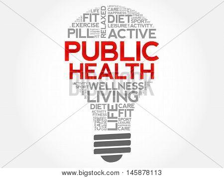 Public Health Bulb Word Cloud