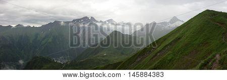 View of Kitzsteinhorn from Alexander-Enzinger-Weg, Kaprun, Austria