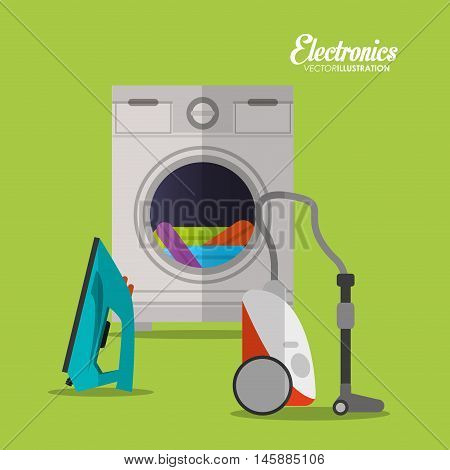 washer and cloth icon. electronic appliances and supplies for your home theme.Colorful design. Vector illustration