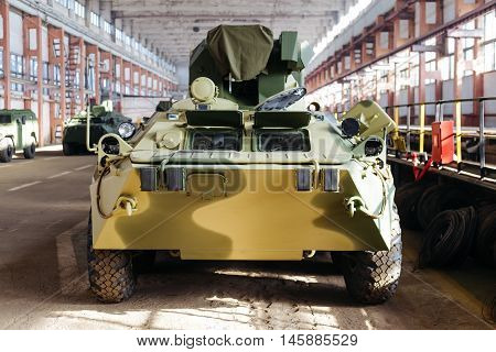The front part of the Russian armored personnel carriers