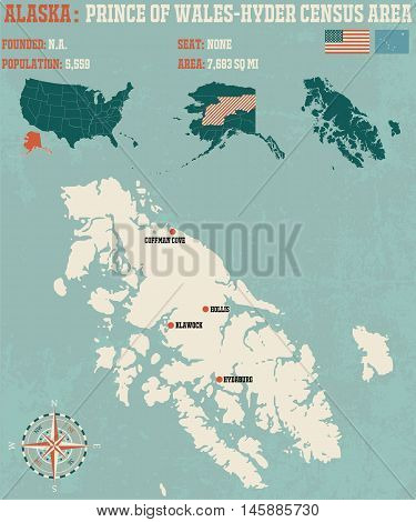 Large and detailed infographic of the Prince of Wales-Hyder Census Area in Alaska