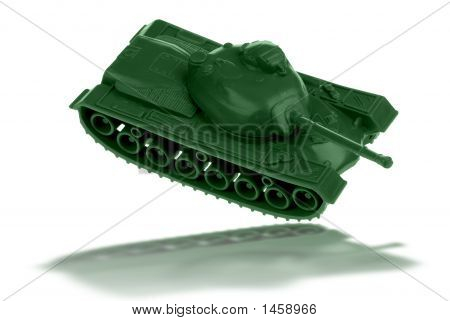 Toy Army Tank Reflection