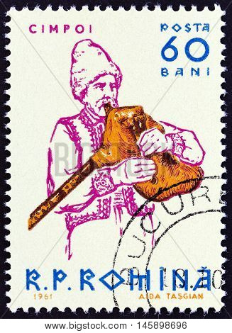 ROMANIA - CIRCA 1961: A stamp printed in Romania from the