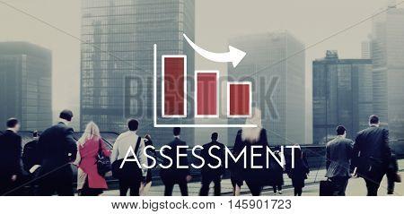 Recession Decrease Business Barchart Concept
