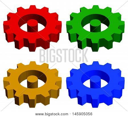 Gearwheel, Rack Wheel, Gear Icon, Sign. Service, Development, Manufacturing, Settings Concepts.