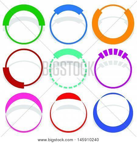 9 Circular Segmented Circle Preloader User Interface - Ui Elements