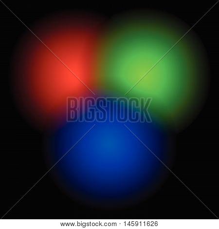 Transparent Rgb Circles Blended - Rgb Color Space