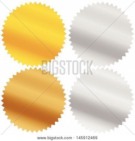 Gold, Silver, Bronze And Platinum Seals, Awards, Starbursts